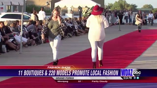Over two hundred models promote local fashion
