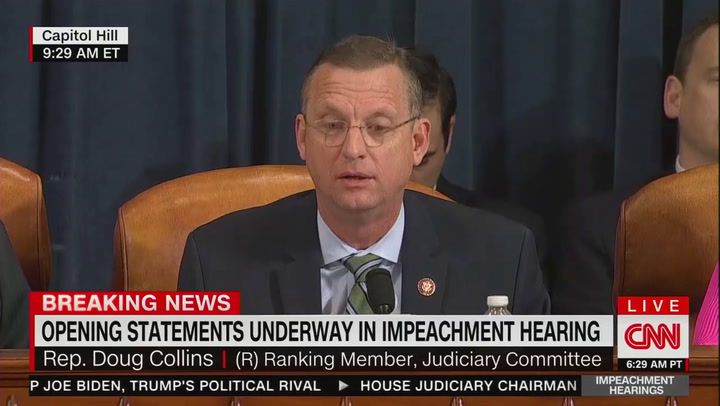 "Watch: Top Judiciary Republican says Democrats are ""making up impeachment"" as they go"