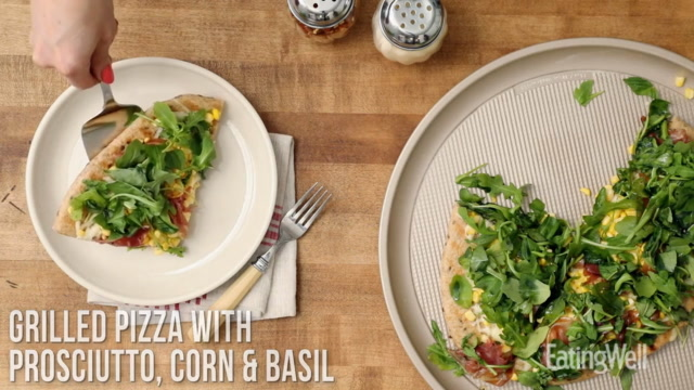 How to Make Grilled Pizza with Prosciutto, Corn & Basil