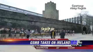 NDSU Gold Star Marching Band performs in Ireland