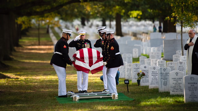 Marine laid to rest after 73 years