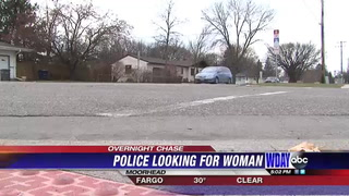 Moorhead police looking for woman who lead them on an overnight chase