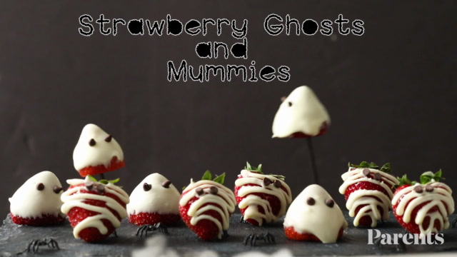 Strawberry Ghosts and Mummies