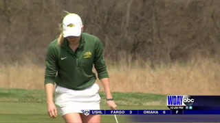 NDSU women golfers lead Summit League tournament after opening round