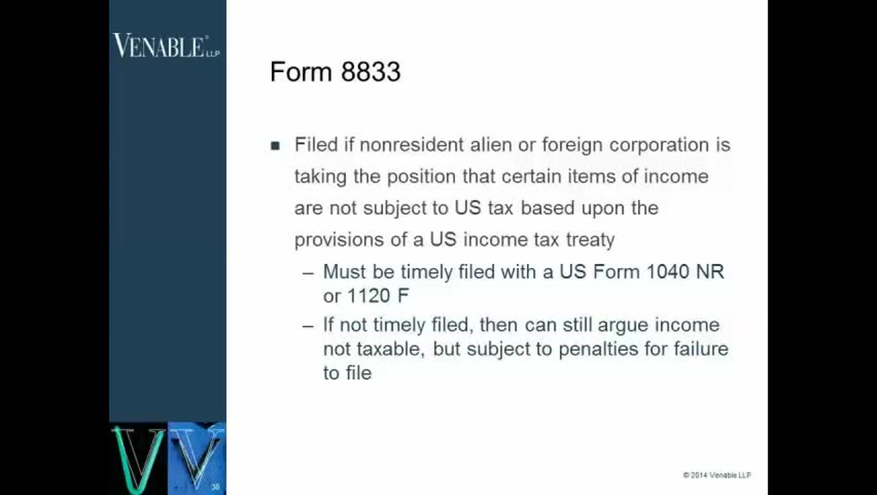 International Tax Forms- When to Use Form 8833 — Video | Lorman
