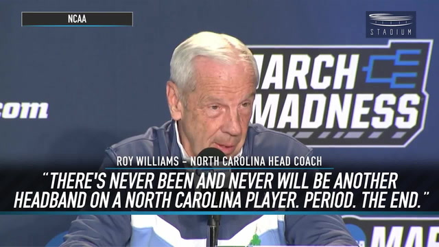 Roy Williams Reveals Why No UNC Players Can Wear Headbands on His Watch