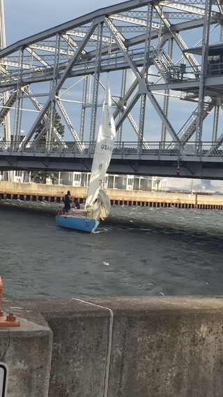 Sailboat crashes into Aerial Lift Bridge
