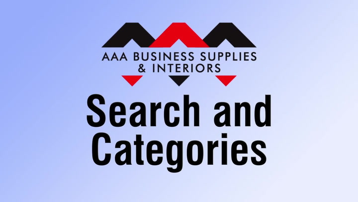 Search & Categories at shop.AAAsolutions.com