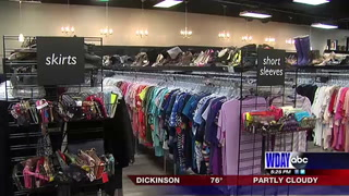 Used clothing store says receives more clothes between seasons