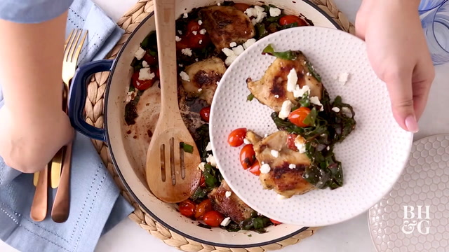Chicken Thighs with Tomatoes and Greens