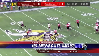 Wabasso runs past Ada-Borup-NCW in football semifinals