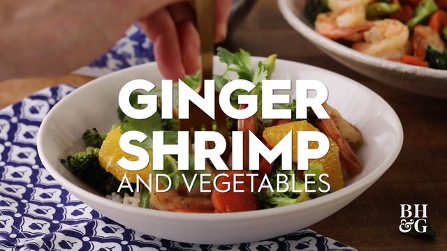 Ginger Shrimp and Vegetables