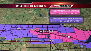 Winter Storm Warning Issued For Some