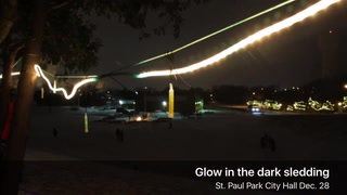 Glow in the dark sledding