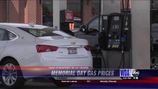 Low gas prices for Memorial Day