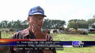 F-2 tornado hits Norman County, flattens barn