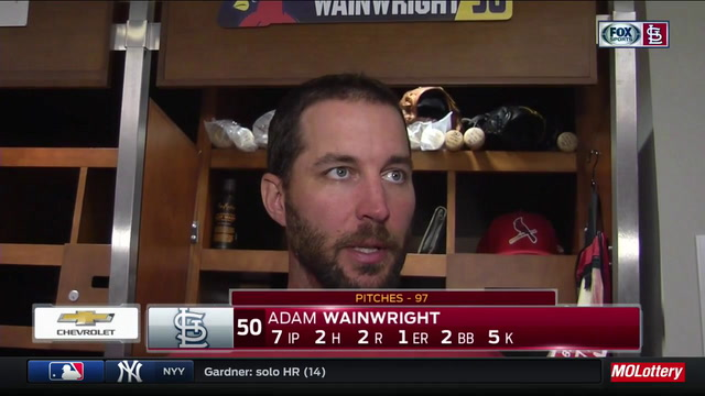 Wainwright: 'That's the most comfortable I've been on the mound all year'