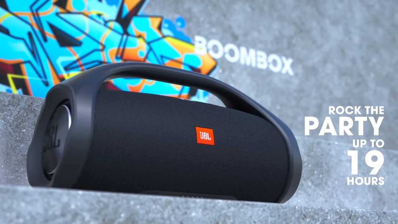 JBL 3677584 Boombox Portable Bluetooth Speaker at The Good Guys
