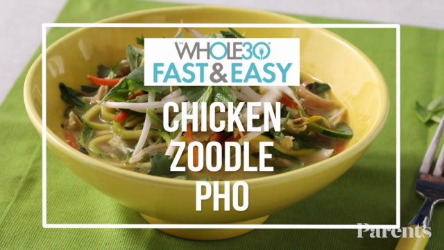 Whole 30: Chicken Zoodle Pho