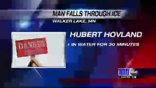 Man falls through ice in Otter Tail County