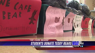 Students collect over 300 teddy bears for children in crisis situations