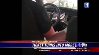 Driving ticket reveals surprise for Bismarck police officer