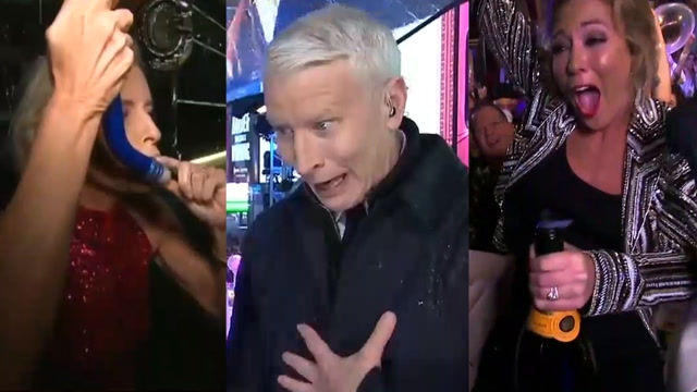 TV hosts showed viewers how to drink on New Year's Eve