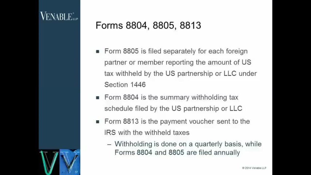International Tax Forms- When to Use Forms 8804, 8805 and 8813 ...