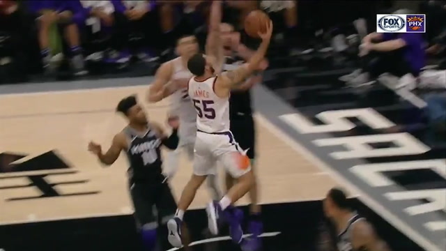 HIGHLIGHTS: James shines again off bench for Suns in loss to Kings