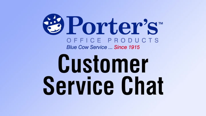 Chat for help, we're here if you need us.  Shop.PortersOP.com