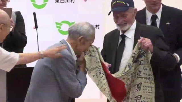 WWII Veteran Returns Flag to Soldier's Family