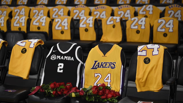 Lakers honor Kobe Bryant at first game back
