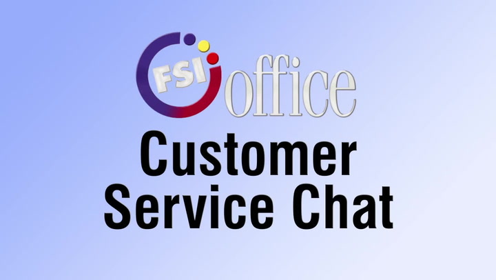 Customer Service Chat | shop.FSIoffice.com