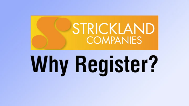 Why Register?  Personalized Shopping at StricklySupplies.com