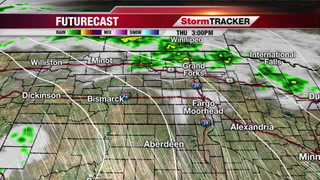 Showers and Thunderstorms in the Area Today