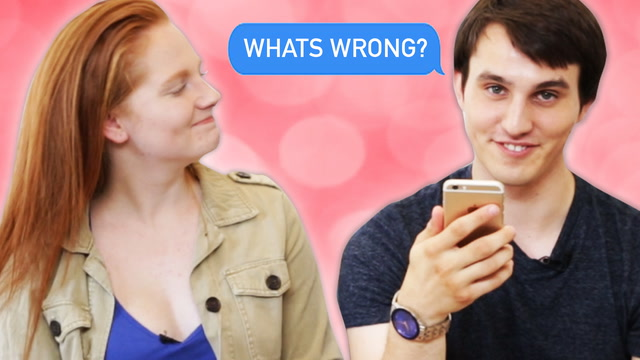 Couples Read Their Fights Over Text