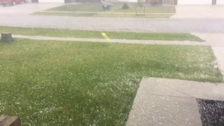 Hail and Rain in West Fargo