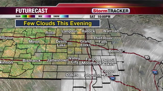Tracking Clouds Moving East Tonight