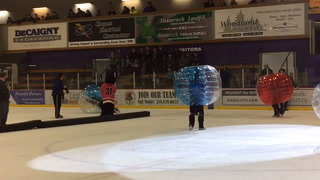 Bantams Play Bubble Soccer At Wilderness Game