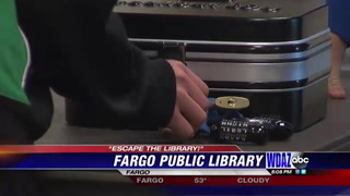 Fargo Library puts on escape room themed event