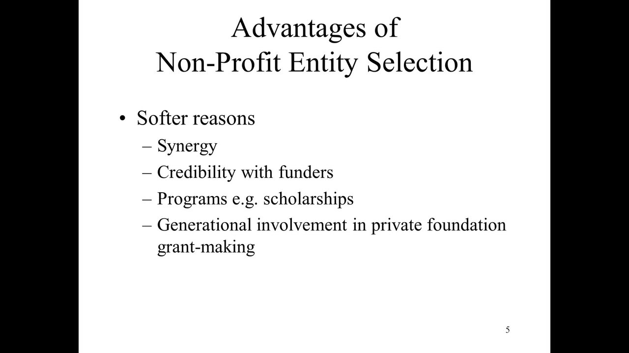 advantages of non profit Every individual who operates a business has the ability to incorporate his or her business in a fashion that permits the best tax benefits each type of.
