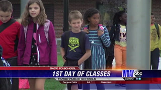 First day of classes every for Fargo Eagles Elementary school