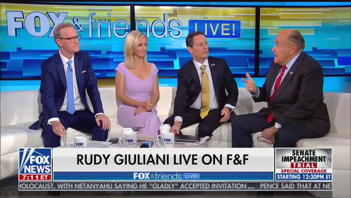 'Fox & Friends' Desperately Tries to End Rudy Giuliani Interview, Repeatedly Fails