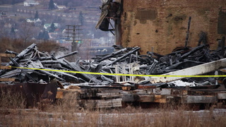 Charred remains of Superior elevator