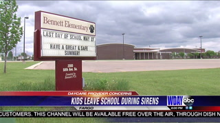 Fargo daycare provider upset after she says Fargo School District let kids leave while tornado sirens were going of
