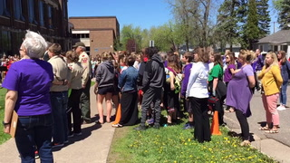 Cloquet Middle School band plays final song at goodbye ceremony