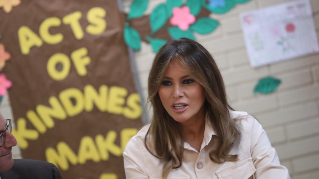 First lady Melania Trump visits shelter for immigrant children