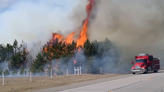 It's a Tinderbox - Merrifield Brush Fire Moves Quickly