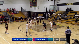 Colonel Crawford Boys Basketball Team Bounces Van Buren Black Knights 78-44