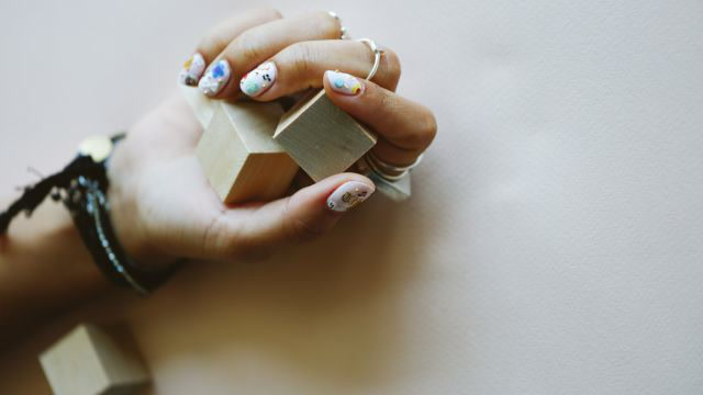 The Easiest Sticker Manicure
